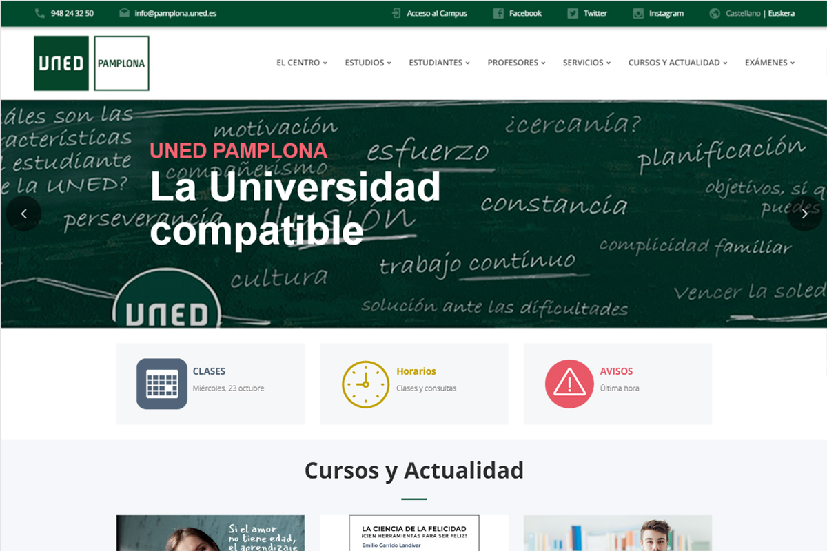 Portal Web de UNED Pamplona